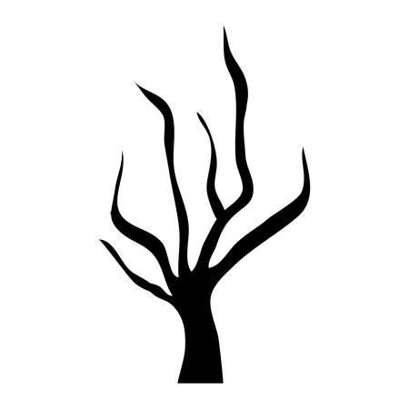 dry tree icon over white background. vector illustration Illustration