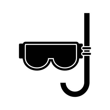 snorkel mask icon over white background. vector illlustration