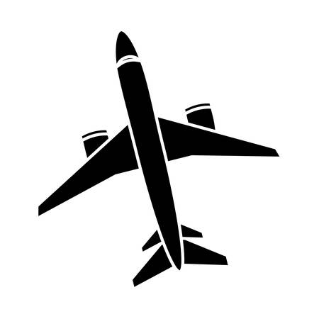 airplane icon over white background. vector illlustration Illustration