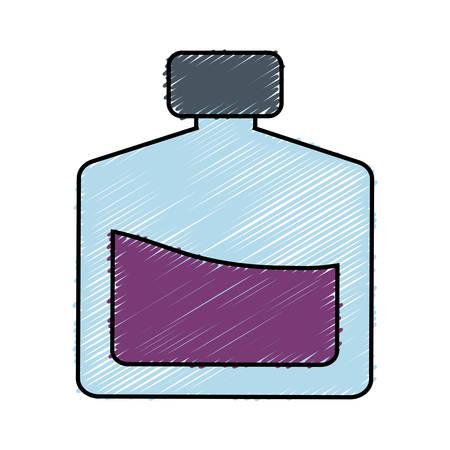 fragance bottle icon over white background. vector illustration