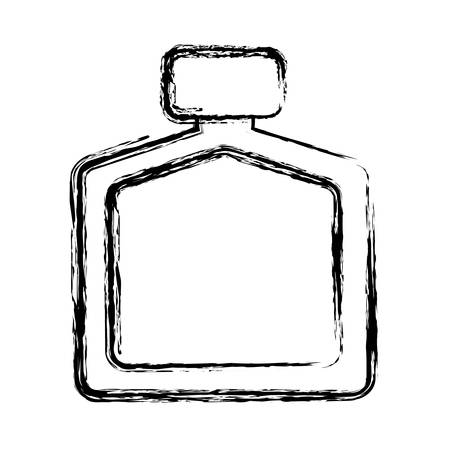 fragance bottle icon over white background. vector illustration
