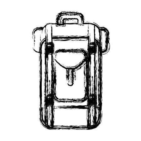 travel backpack icon over white background. vector illustration Illustration