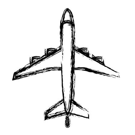 airplane icon over white background. vector illustration Illustration