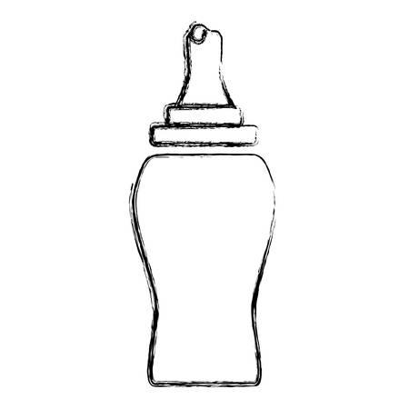 ketchup bottle: Ketchup plastic bottle icon vector illustration graphic design Illustration