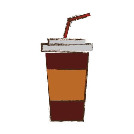 Soda plastic cup icon vector illustration graphic design