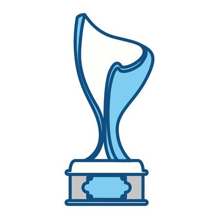 Trophy cup championship icon vector illustration graphic design