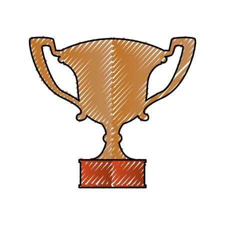 award winning: Trophy cup championship icon vector illustration graphic design