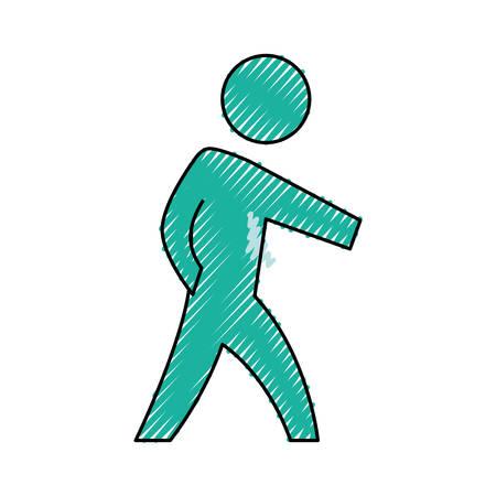 display problem: Man pictogram symbol icon vector illustration graphic