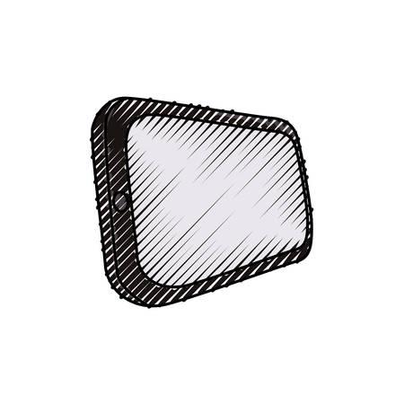 Mobile smartphone technology icon vector illustration graphic design Illustration