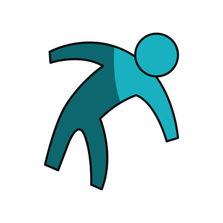 display problem: Man pictogram symbol icon vector illustration graphic design