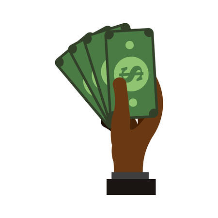 paying: Billets money symbol icon vector illustration graphic design
