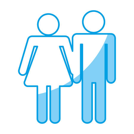 pictogram couple icon over white background. vector illustration