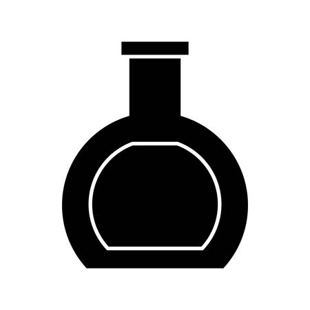 medical laboratory: chemical flask icon over white background. vector illustration