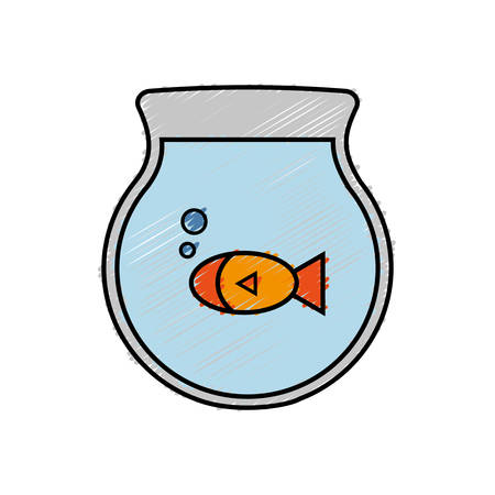 trusting: fishbowl icon over white background. colorful design. vector illustration Illustration