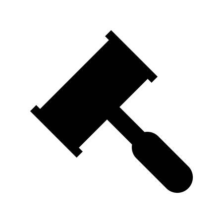 civil rights: law hammer icon over white background. vector illustration