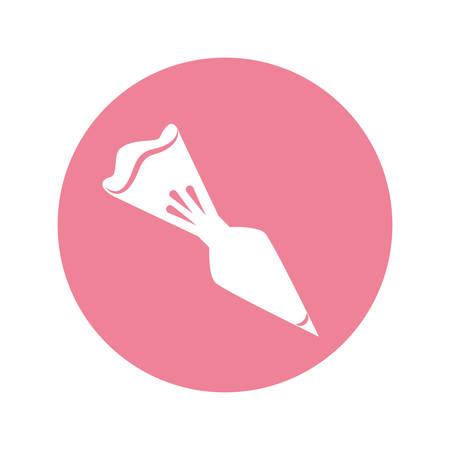 decoration bag cake vector icon illustration graphic design