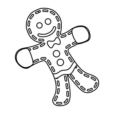christmas cookie: gingerbread man cookie vector icon illustration graphic design Illustration