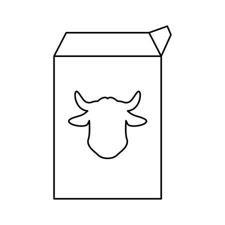 pasteurized: milk carton cow vector icon illustration graphic design
