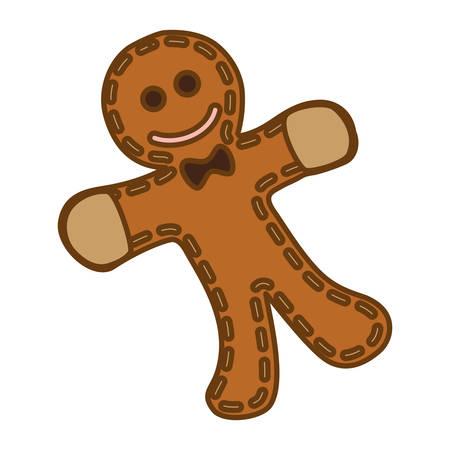 gingerbread man cookie vector icon illustration graphic design Illustration
