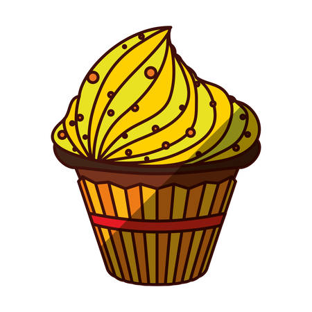 cupcake dessert sweet vector icon illustration graphic design