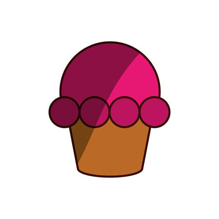 cupcake illustration: cupcake dessert sweet vector icon illustration graphic design