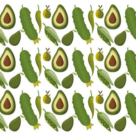 vegetables background wallpaper vector icon illustration graphic design Illustration