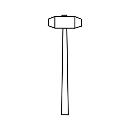 sledgehammer construction tool vector icon illustration graphic design Banco de Imagens - 78575926