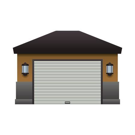 garage door house vector icon illustration graphic design