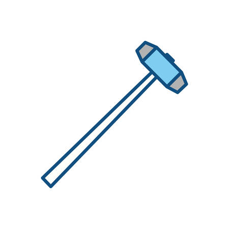 sledgehammer construction tool vector icon illustration graphic design