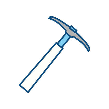pickaxe tool construction vector icon illustration graphic design Illustration