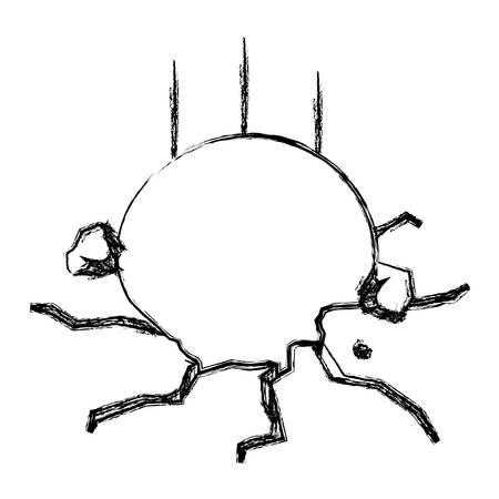 ball breaking floor vector icon illustration graphic design Illustration