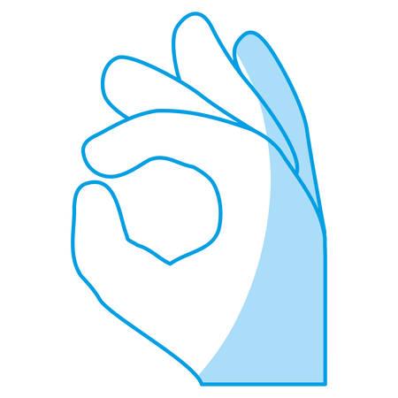 Gesture ok hand vector icon illustration graphic design