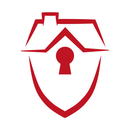 security shield home vector icon illustration graphic design