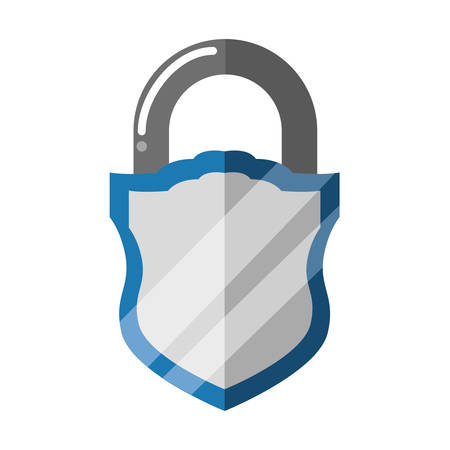 padlock security shield vector icon illustration graphic design Ilustrace