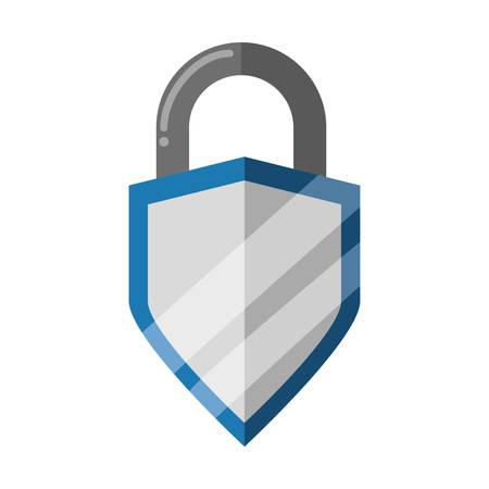 padlock security shield vector icon illustration graphic design Illustration
