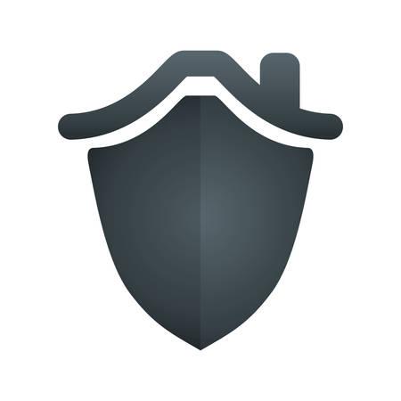 security shield home vector icon illustration graphic design