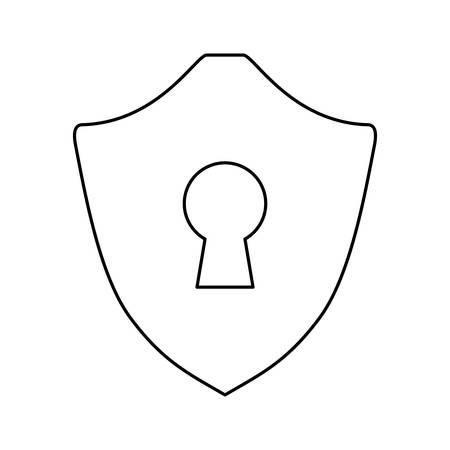 security shield emblem vector icon illustration graphic design