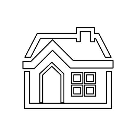 Home Draw House Vector Icon Illustration Graphic Design Vector