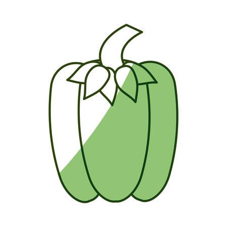 health and fitness: Fresh pepper vegetable icon vector illustration graphic design Illustration