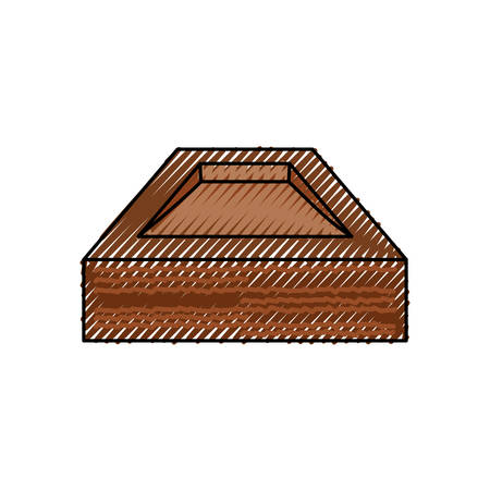 Empty wooden box icon vector illustration graphic design