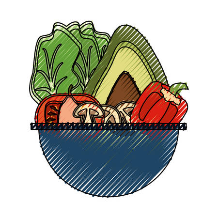 plate: Vegetable delicious salad icon vector illustration graphic design Illustration