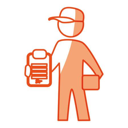 worker deliver silhouette icon vector illustration graphic design