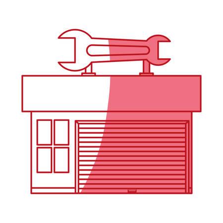 garage door mechanic icon vector illustration graphic design