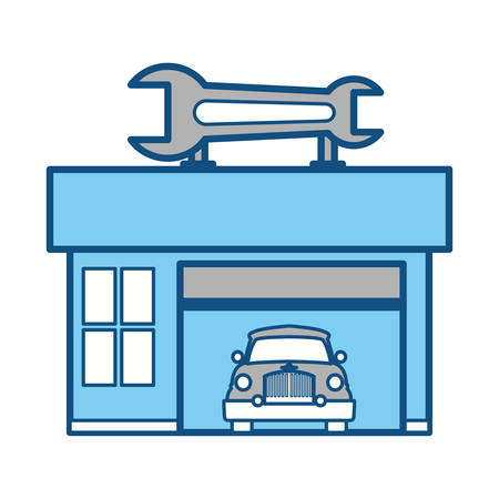 Garage Door Mechanic Vector Icon Illustration Graphic Design Royalty