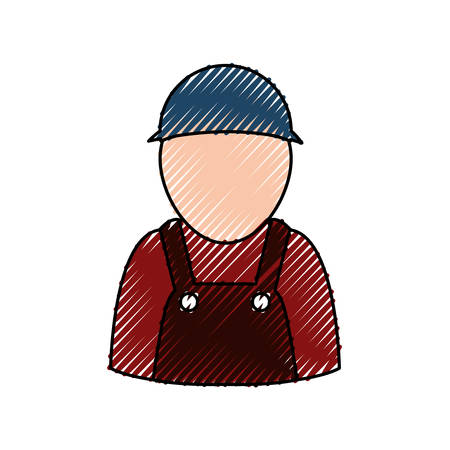 Car mechanic avatar icon vector illustration graphic design