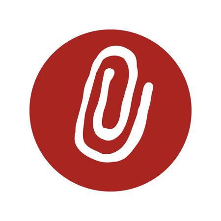 Paper clip symbol icon vector illustration graphic design Illustration
