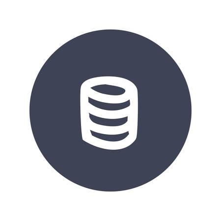 global communication: Database storage technology icon vector illustration graphic design