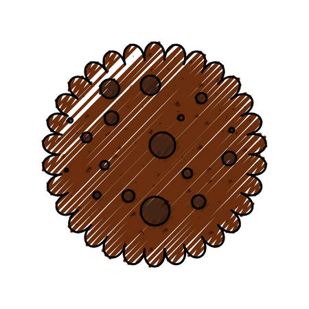 cookie snack sweet icon vector illustration graphic design