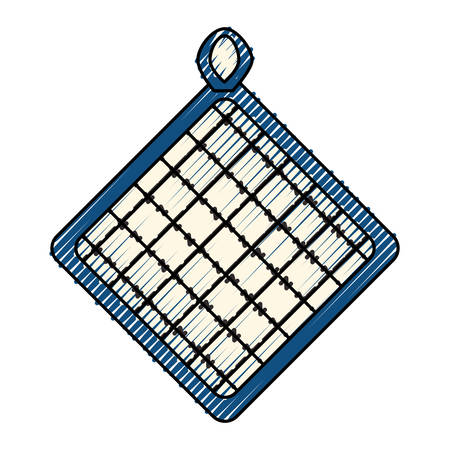 fireproof: kitchen potholder object icon vector illustration graphic design
