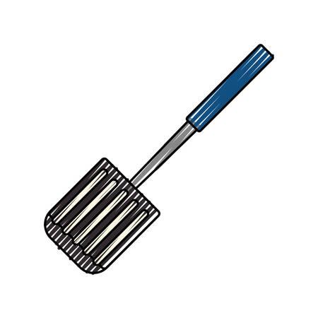 spatula kitchenware tool vector icon illustration graphic design Иллюстрация